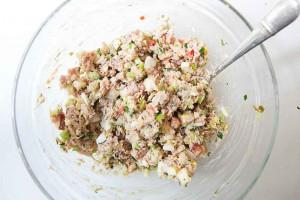 Рецепт салат с ветчиной