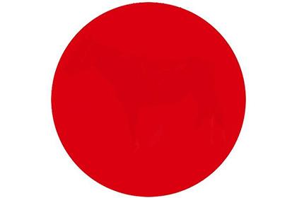 Тест на остроту периферического зрения, лошадь в центре красного круга