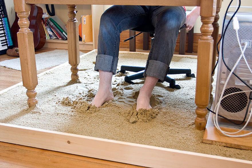 Beach Sand Under Your Work Desk 2