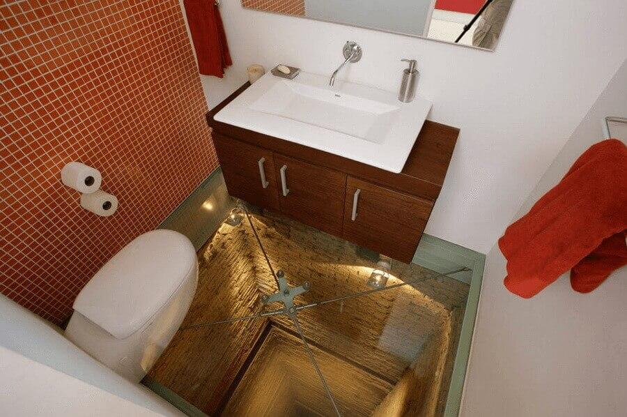 Glass Floor and an Open Shaft Below Your Bathroom 2