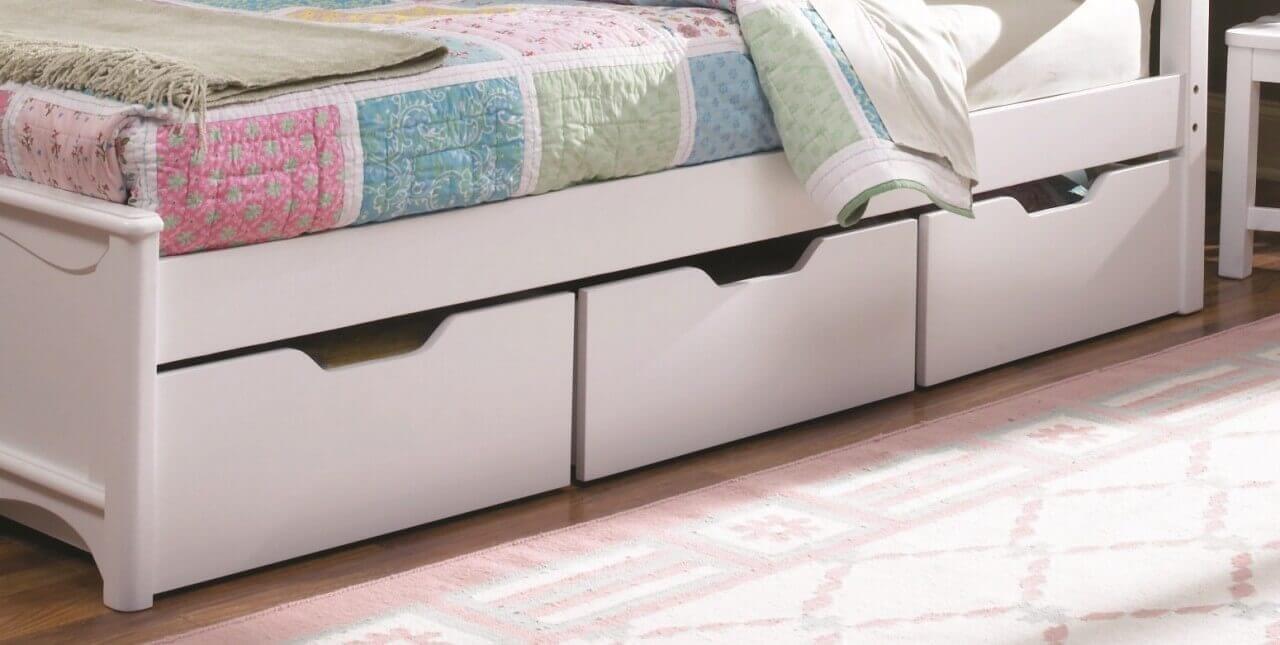 Простое и эффективное хранение вещей под кроватью