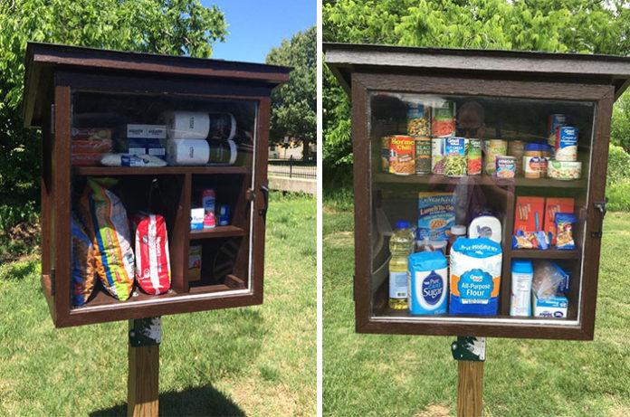 Уличная буфетная, где можно оставить продукты для нуждающихся и бездомных