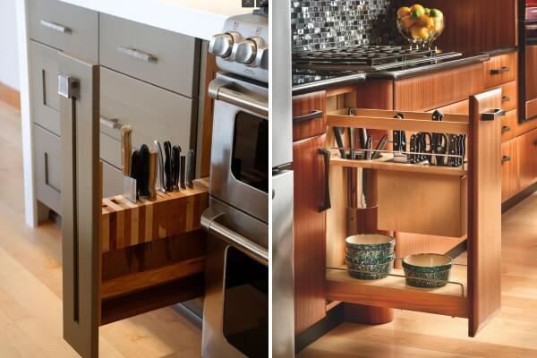 Умные выдвижные системы (ящики) для кухни