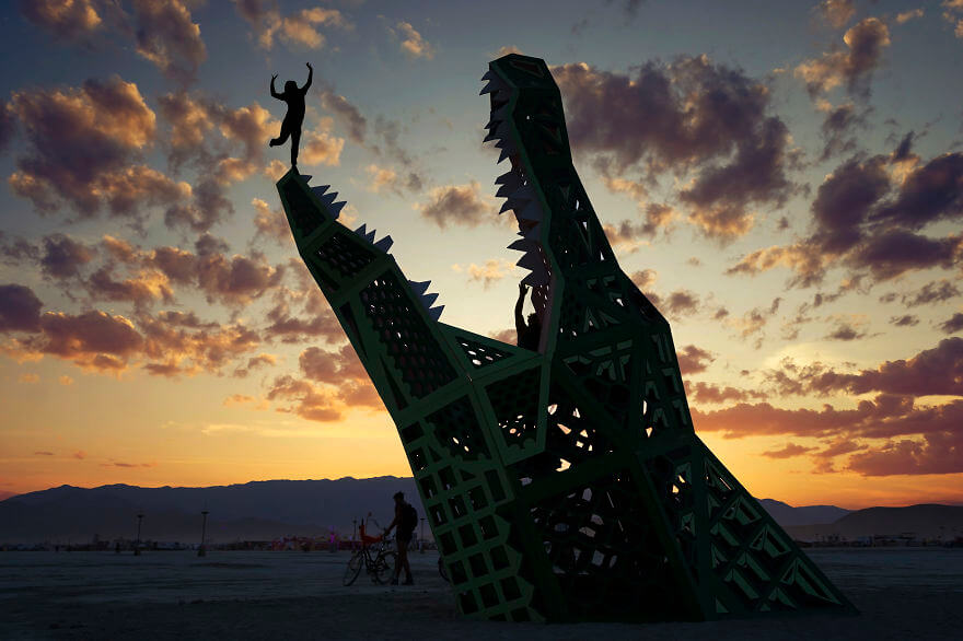 Сюрреалистичные фотографии фестиваля Горящий Человек (Burning Man), от Виктора Хабчи