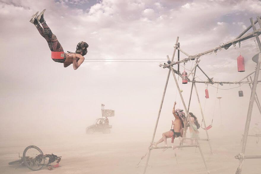 Сюрреалистичные фотографии фестиваля Горящий Человек (Burning Man) от Виктора Хабчи
