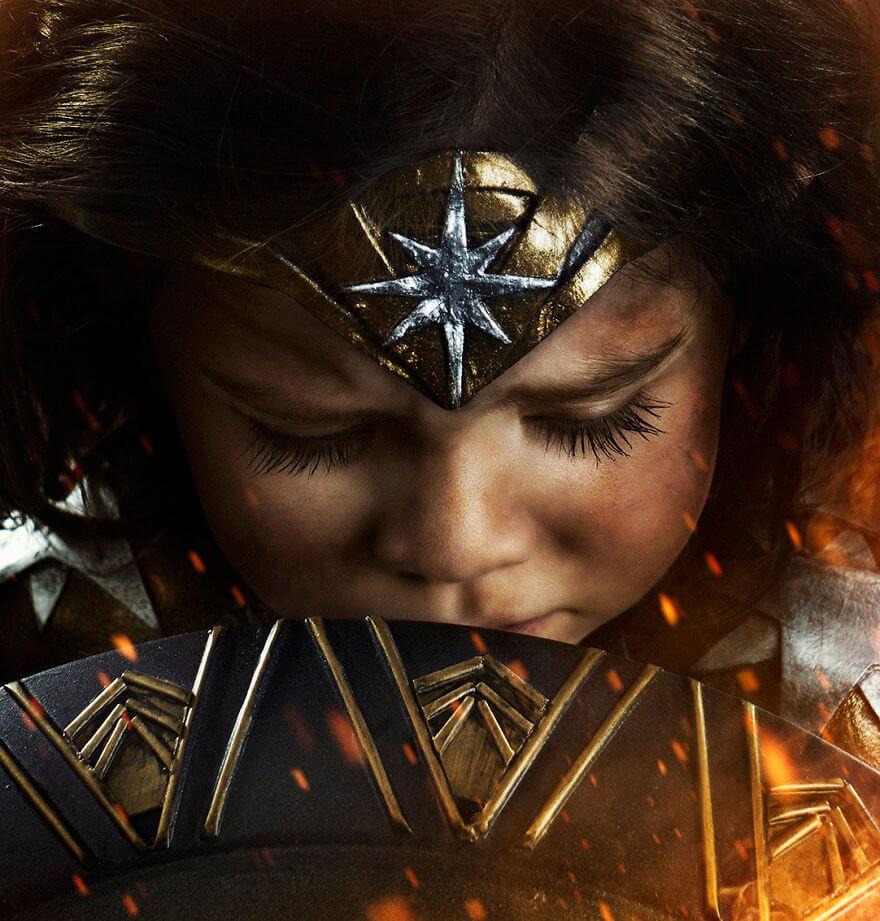 трехлетняя дочь фотографа на съемках Чудо-женщины