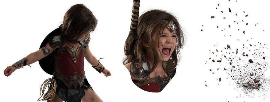 Талантливый отец девочки создал потрясающие эффекты в фотошоп