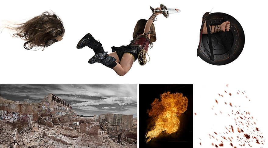 Процесс работ по созданию фотосессии Чудо-женщина