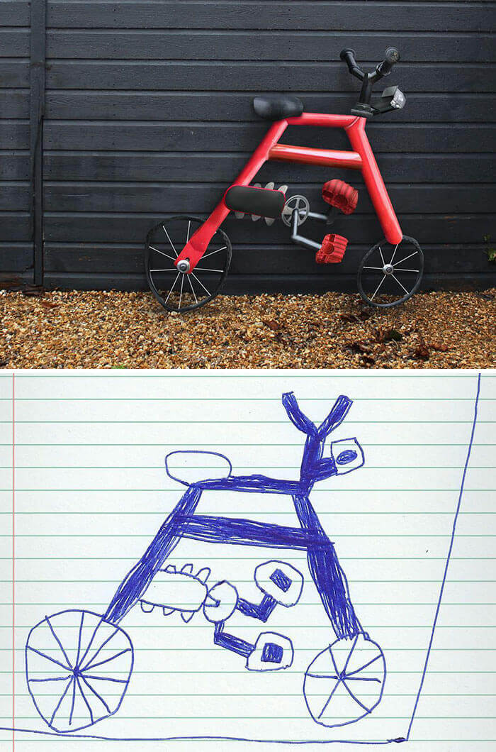 Смешно и страшно: Отец оживляет рисунки сына при помощи фотошоп